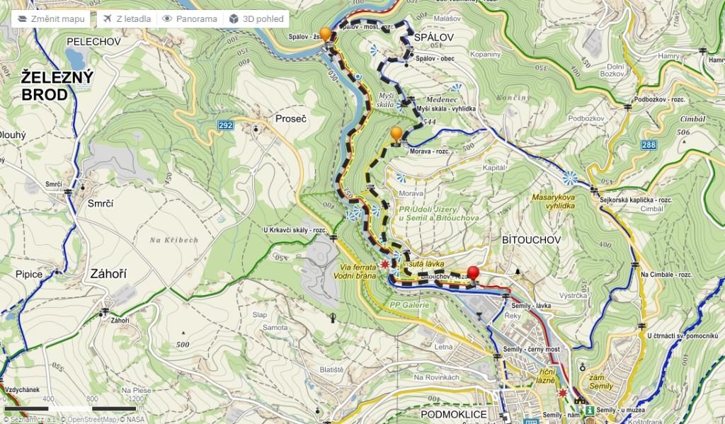 mapa riegrova stezka